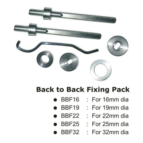 Back to Back Fixing Kit Pack to Suit Pull Door Handles in Multiple Sizes