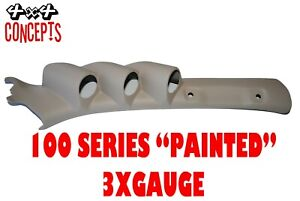 2 Gauge Pillar pod suit 200 Series Toyota Landcruiser Painted Factory Beige 52mm