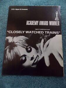 CLOSELY-WATCHED-TRAINS-1968-VACLAV-NECKAR-ORIGINAL-PRESSBOOK