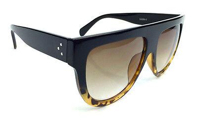 Designer Flat Top Aviators Square Oversized Shadow Big Sunglasses Celebrity DEF