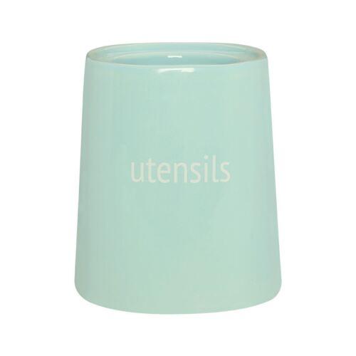 beige /& bleu céramique Fletcher ustensile pots solution de stockage Vert