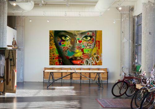 Motivo Naomi Campbell XXL 150 x 99,5 cm arcylglas 5mm POP ART//PITTURA//Street Art