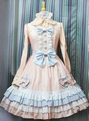 COSPLAY SWEET LOLITA FAIRY TALE CUTE PINK PRINCESS DRESS (CUSTOM-MADE )