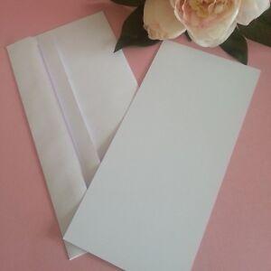Dl flat diy blank card invitation making kit envelopes white 25 image is loading dl flat diy blank card invitation making kit stopboris Gallery