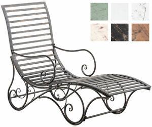 Gartenliege Amiens Sonnenliege Liegestuhl Garten Eisenliege Bank Metall Terrasse Ebay