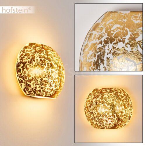 runde Wand Lampen Glas Flur Dielen Leuchten goldfarben Wohn Schlaf Zimmer modern