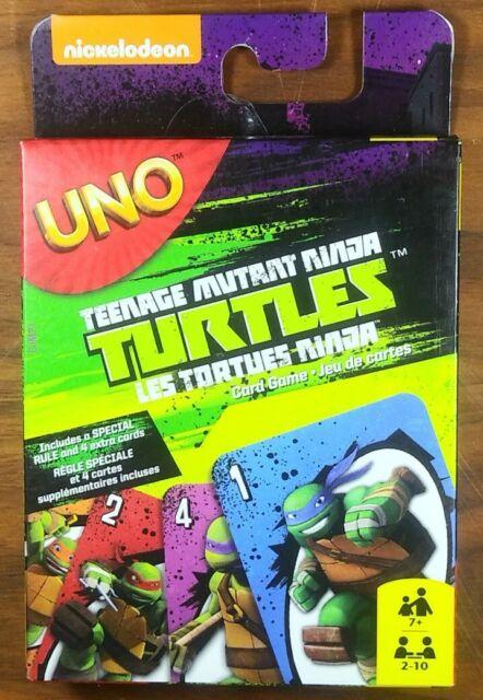 Teenage Mutant Ninja Turtles UNO Card Game TMNT New Factory Sealed Special Rule.