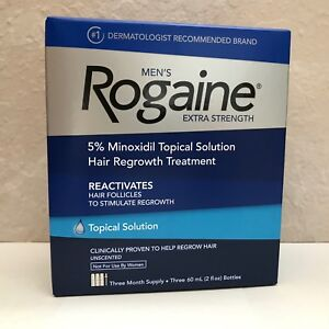 Rogaine-Men-039-s-Topical-Solution-Extra-Strength-5-Minoxidil-3-Month-Supply-NEW