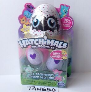 New Hatchimals CollEGGtibles 2 Pk + Nest Blind Mystery Season 1 Collect Eggs