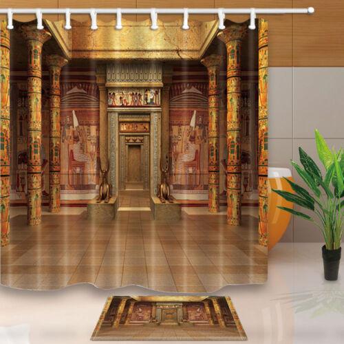 Egyptian pharaoh tomb Shower Curtain Bedroom Decor Waterproof Fabric /& 12Hooks