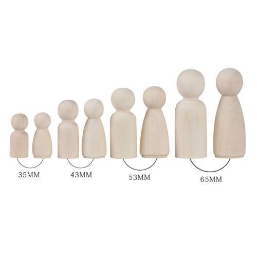 24 pcs Figuren Holzfiguren Familie DIY Holz Figurenkegel Spielfiguren