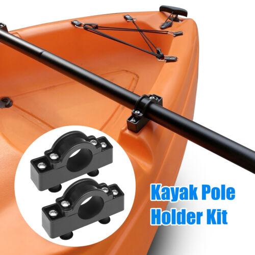 2PCS Kayak Pole Holder Canoe Motor Flush Mount Rack Boat Fishing Rod Bracket Kit