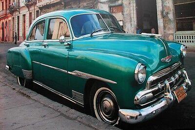 Havanna Cars Cars Classic Car Cuba American Classic Car Car Canvas 50 x 70 cm