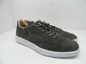 b6bd80c3d7146 Reebok Men s Club C 85 LST Casual Shoe Urban Grey Stone White Size ...