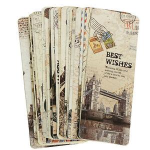 30x-Paris-Eiffel-torre-Vintage-libro-de-papel-marca-marcador-etiqueta-del-libro