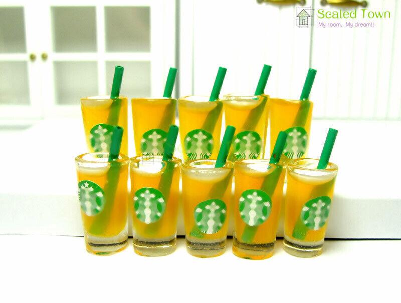 10 x Orange Juice cups 2.8cm H