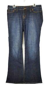 Womens-Jeans-Quality-Denim-Low-Rise-Boot-Cut-Slim-Medium-Wash-Size-12