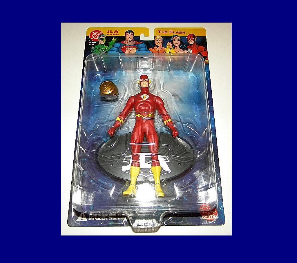 DC DIRECT JLA THE FLASH MINT-ON-CARD RARE ACTION FIGURE FIGURE FIGURE FROM DC COMICS   f4a61e