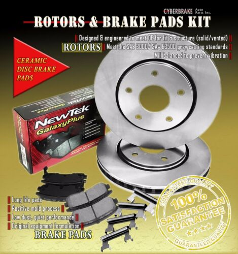 Front Kit Rotors /& Ceramic Brake Pads W//Hardware Fits 01-03 Oldsmobile Aurora