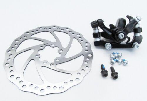 Frein à disque mécanique vélo vtt vélo vélo avant arrière Étrier 160mm rotors