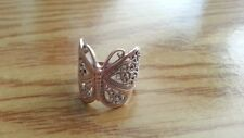 Beautiful Big Filigree Butterfly Solid Ring 925 Sterling Silver *Size 7.5 *M071