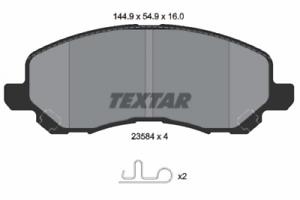 Textar Bremsbelagsatz VA Dodge Jeep Compass//Patriot Chrysler Sebring 2358403