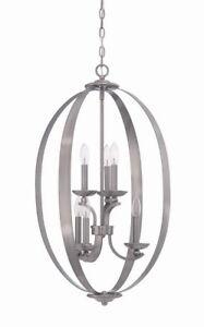 Craftmade ensley 6 light antique nickel chandelierpendant image is loading craftmade ensley 6 light antique nickel chandelier pendant aloadofball Gallery