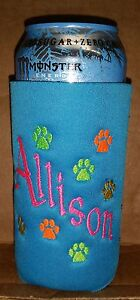 Image is loading PERSONALIZED-EMBROIDERED-Koozie-Huggie-Coolie-for-24-OZ-