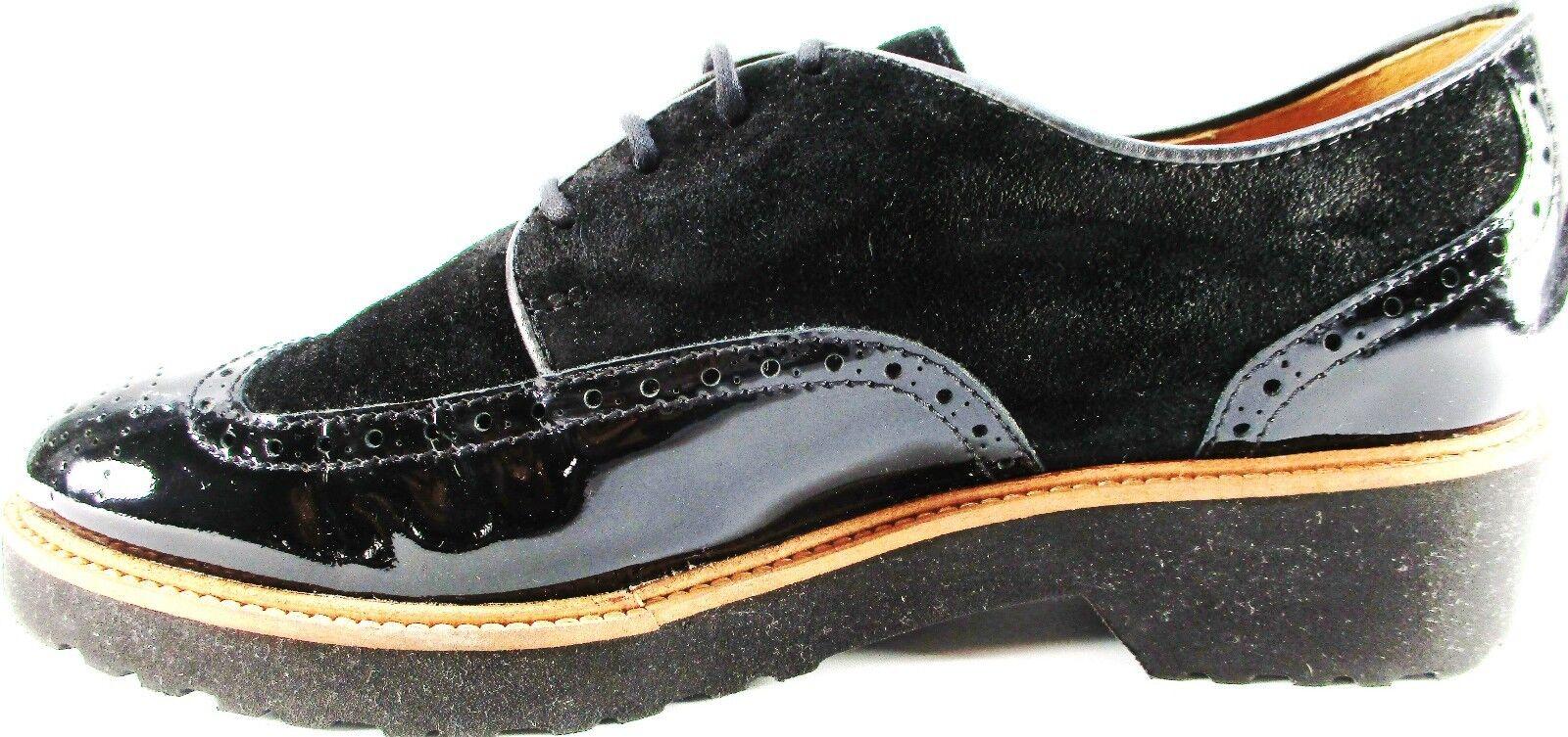 Rizzo euro mujeres punta del ala zapatos euro Rizzo 36 Charol Negro Suela De Goma Espuma 214beb