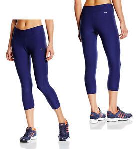 d858223764235e Women Adidas Yoga Leggings Navy Blue Ultimate Mid Rise 3/4 Leggings ...