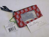 Vera Bradley Red Bandana Zip Id Coin Case Change Key 4 Purse Tote Backpack