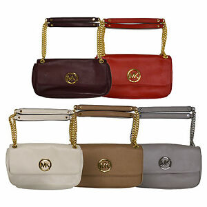 Image Is Loading Michael Kors Handbag Purse Fulton Shoulder Flap Bag