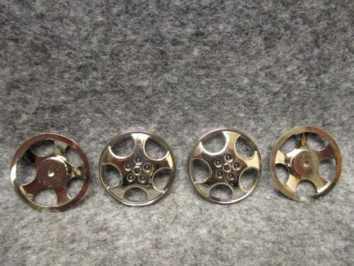 """1.25/"""" Set Of 4 Glue On Mag Wheel Hub Caps For Model Car Toys Crafts Findings Etc"""
