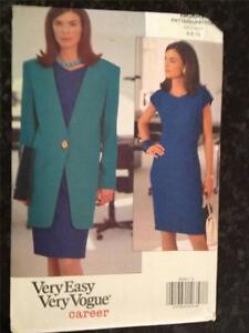 Vogue-Sewing-Pattern-8060-Ladies-Misses-Jacket-Dress-Size-6-10-UC