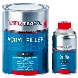 1 L Hs 5:1 Noir Stylo Sous-couche 2k Acrylique Primer Filler Plus Dur Troton-afficher Le Titre D'origine