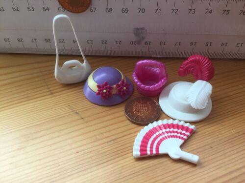 6808 giocattolo Vittoriano Cappello /& Fascia /& Petali di fiori Fan CESTO BORSETTA Piume-PLAYMO