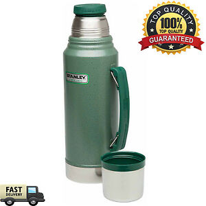 Classic Vacuum Thermos Bottle Coffee Green Stanley Hammertone 1.1 Qt ...
