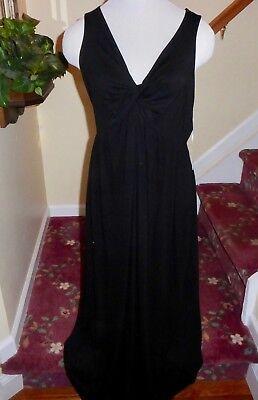 A Glow Maternity Maxi Dress Black Sleeveless Knot V Neck Jersey Knit Xl For Sale Online Ebay