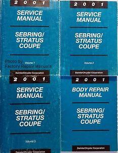 2001 chrysler sebring coupe dodge stratus coupe factory shop rh ebay com 2001 Sebring Overheating Problem 2001 chrysler sebring service manual pdf