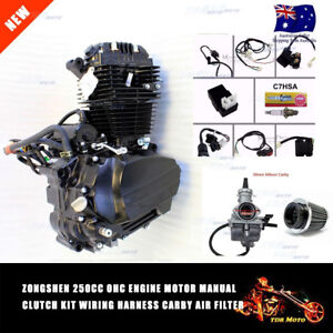 250cc zongshen ohc air cooled engine motor wiring loom harness carby rh ebay com au