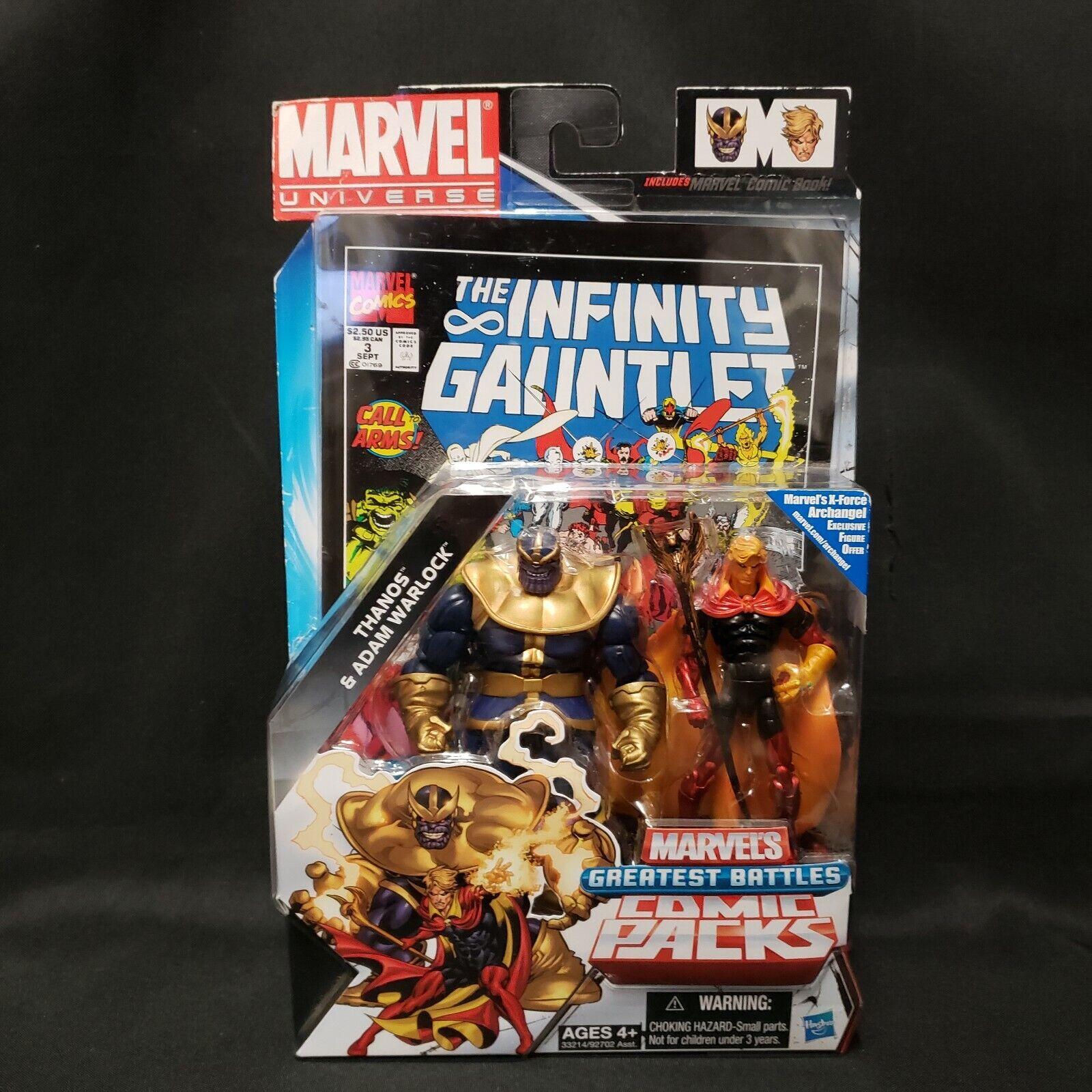 Image 1 - Marvel Universe Greatest Battles Comic Packs Infinity Thanos Adam warlock