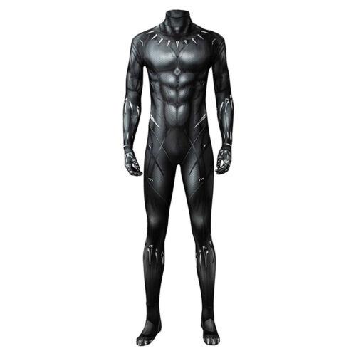 2018 Black Panther T/'Challa Wakanda King Cosplay Costume Halloween Jumpsuit