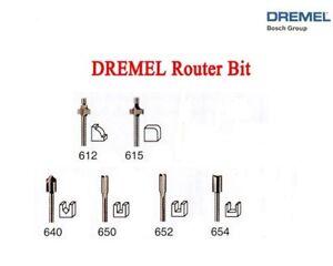 New Authentic Dremel Router Bit 6 Pc Set 612 615 640 650 652