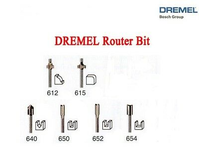 "NEW AUTHENTIC DREMEL ROUTER BIT 6 PC SET FOR ALL ROTARY TOOLS 1/8"" SHANK NOT 692"