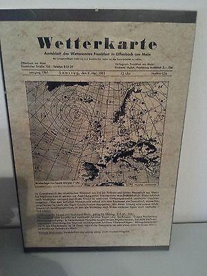 Hilfreich Wetterkarte Geburtstagsgeschenk Vom 06.05.1961