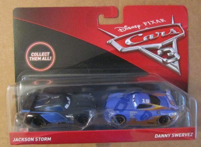 Disney Cars 3-Twin Pack-Jackson Storm /& Danny Swervez-New /& Rare