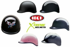 HCI 105 Polo Style Half Motorcycle Helmet DOT Approved XS S M L XL 2XL