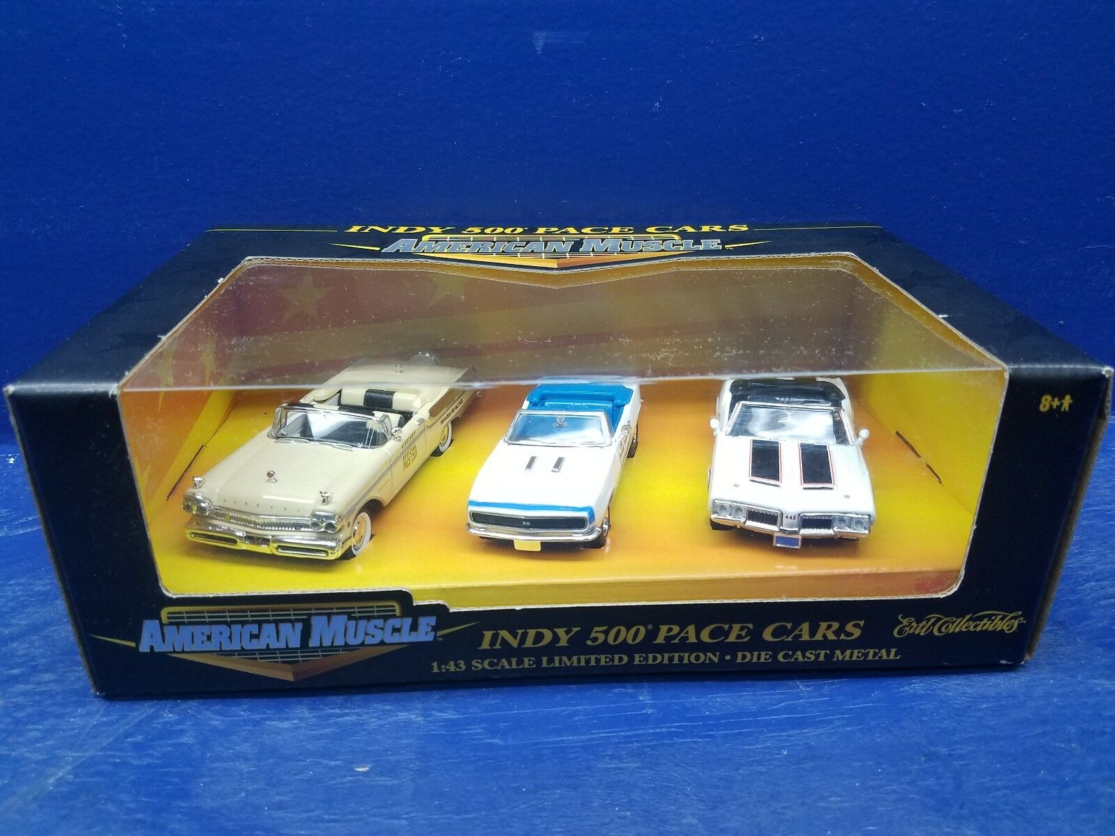 Indy 500 Pace Cars 57 Merc., 67 Chevy, 70 Olds Olds Olds 442 American Muscle 1 43 Scale 1fb3de