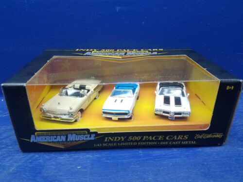 Indy 500 Pace Cars 57 Merc., 67 Chevy, 70 Olds 442 American Muscle 143 Scale
