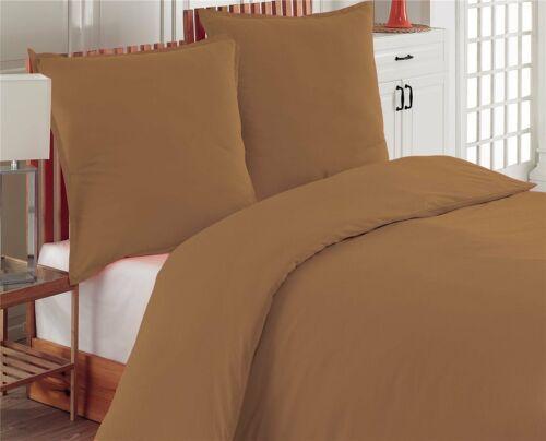 Bettwäsche 200x200 cm Bettgarnitur Bettbezug Baumwolle Kissen Decke 3 tlg UNI